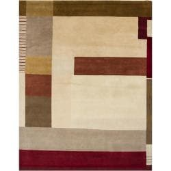 Hand-Knotted Multicolor Mandara New Zealand Wool Rug (9' x 12')