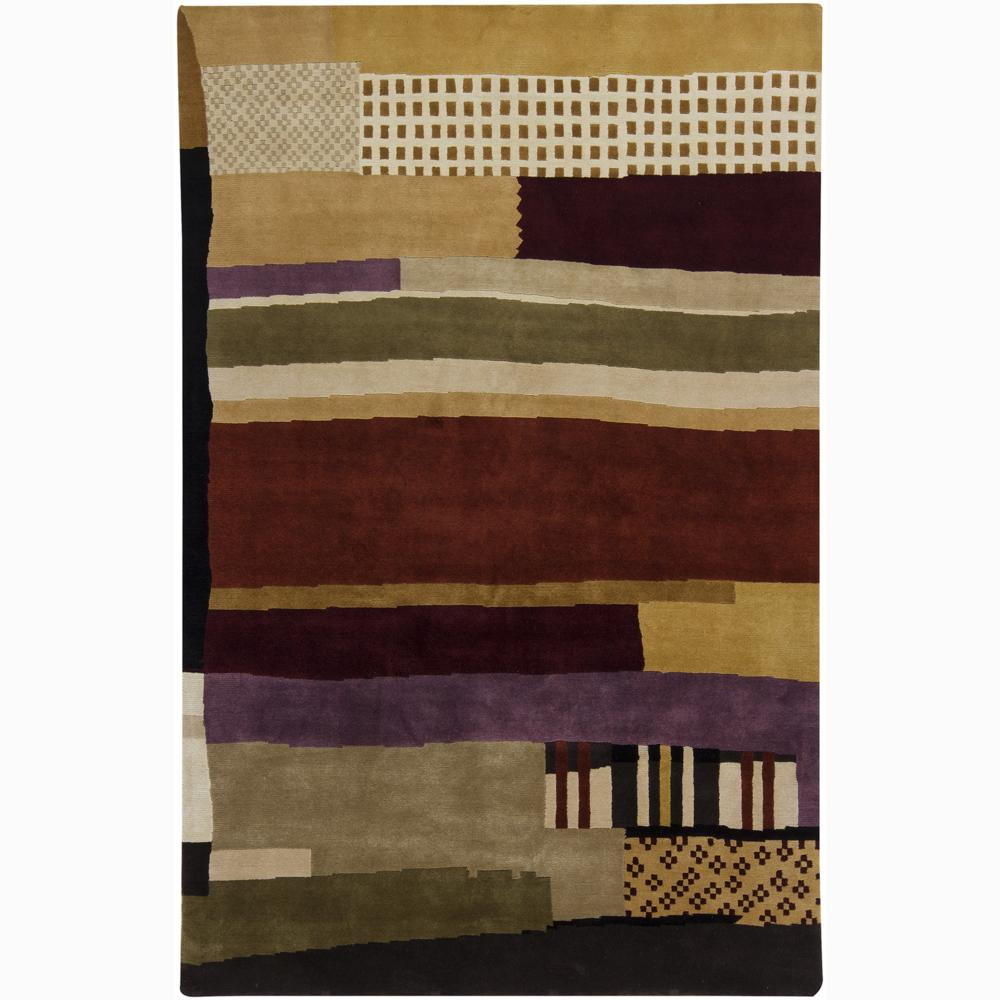 Hand-knotted Mandara Geometric New Zealand Wool Area Rug (9' x 12')