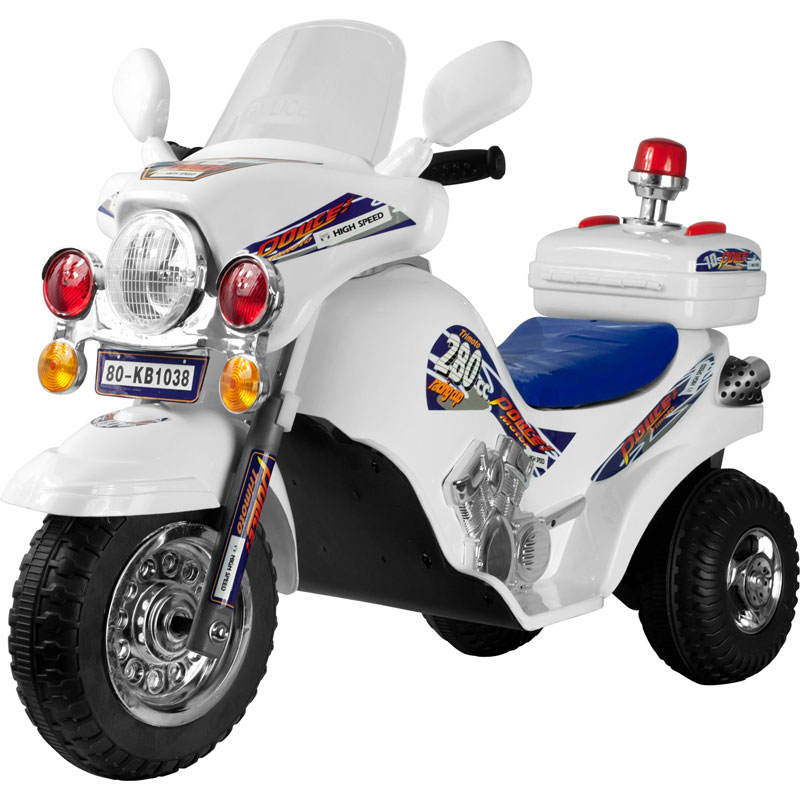 Lil' Rider White Lightning Police Cruiser Battery Operated Ride-on