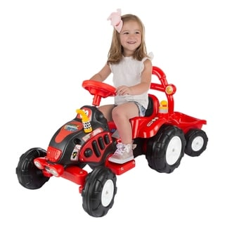 Ride On Toy Tractor & Trailer, Battery Powered Ride On Toy by Lil' Rider - Ride On Toys for Boys & Girls
