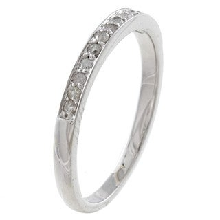 10k White Gold 1/5ct TDW Diamond Wedding Band (G-H, I1-I2)