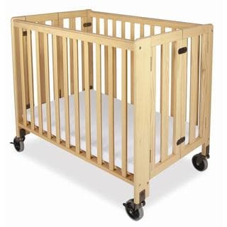 Foundations HideAway Compact Folding Crib with Mattress