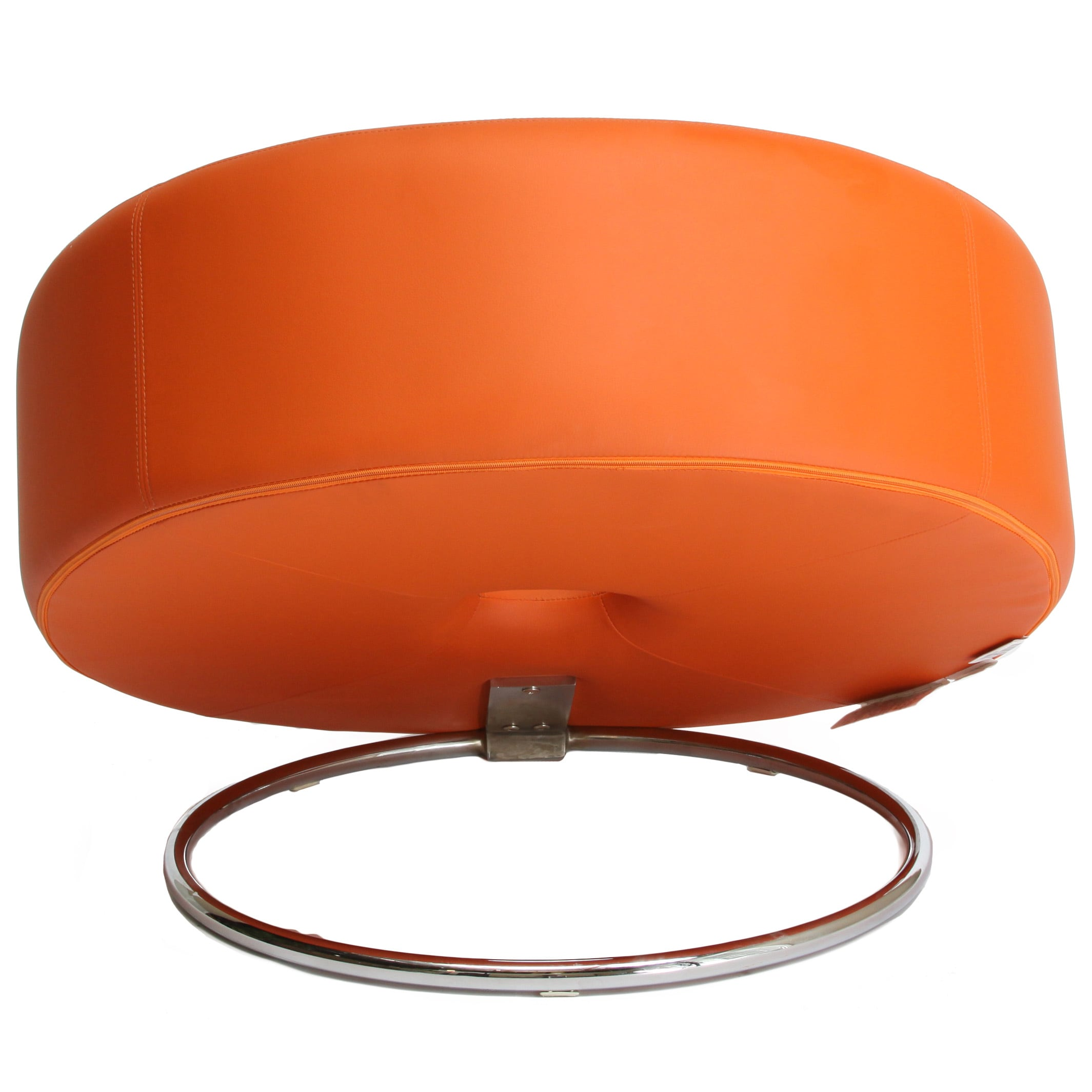 Modern swivel chair - Modern Round Chair Christopher Knight Home Modern Round Orange Accent