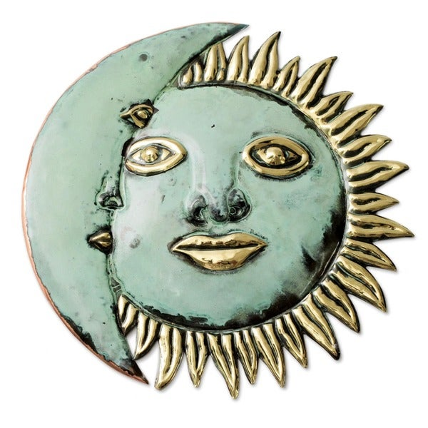 Handcrafted Copper 'Stellar Guidance' Mask , Handmade in Peru