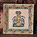 Handcrafted Ceramic 'Catrina' Majolica Plate (Mexico)