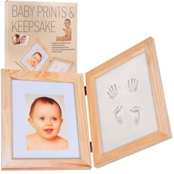 Baby Prints and Keepsake Desk Frame Kit