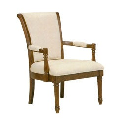 Louis Solid Ivory Accent Chair