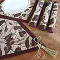 Set of 4 Natural Fiber 'Bali Flora' Table Runner Placemats (Indonesia)