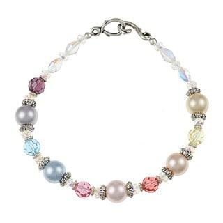 MSDjCASANOVA Tierracast Pewter Crystal Bracelet