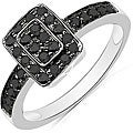 Malaika Sterling Silver 1/3ct TDW Black Diamond Ring