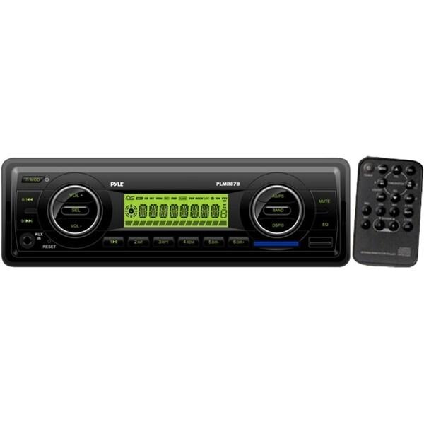 Pyle PLMR87WB Marine Flash Audio Player - 200 W RMS - Single DIN