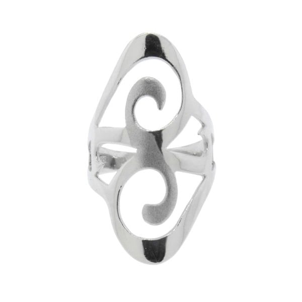 Sterling Silver Sparkle Swirl Ring