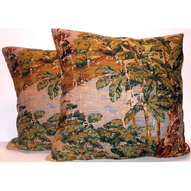 Tropical Print Decorative Pillows (Set of 2)