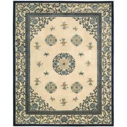 Nourison Hand-tufted Dynasty Ivory Rug (8'6 x 11'6)