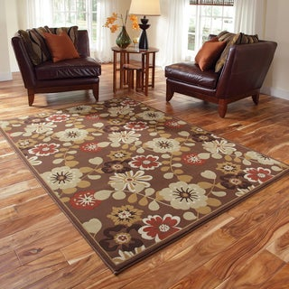 Chime Brown/ Multi Rug (5'3 x 7'7)