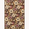Chime Brown/ Multi Rug (2'3 x 3'9)