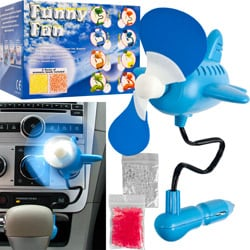 Auto 12-Volt Airplane Air Freshening Scent Fan