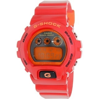 Casio Men's 'G-Shock' Chronograph Resin Strap Mirror Dial Watch
