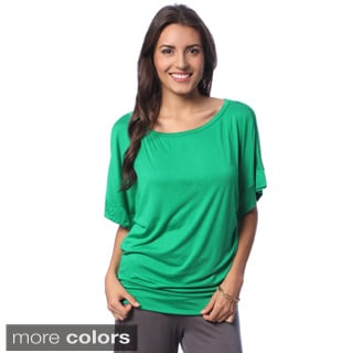 24/7 Comfort Apparel Women's Banded Dolman Top