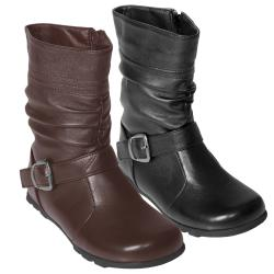 Journee Kids Girl's 'Katie' Slouchy Accent Mid-calf Boots