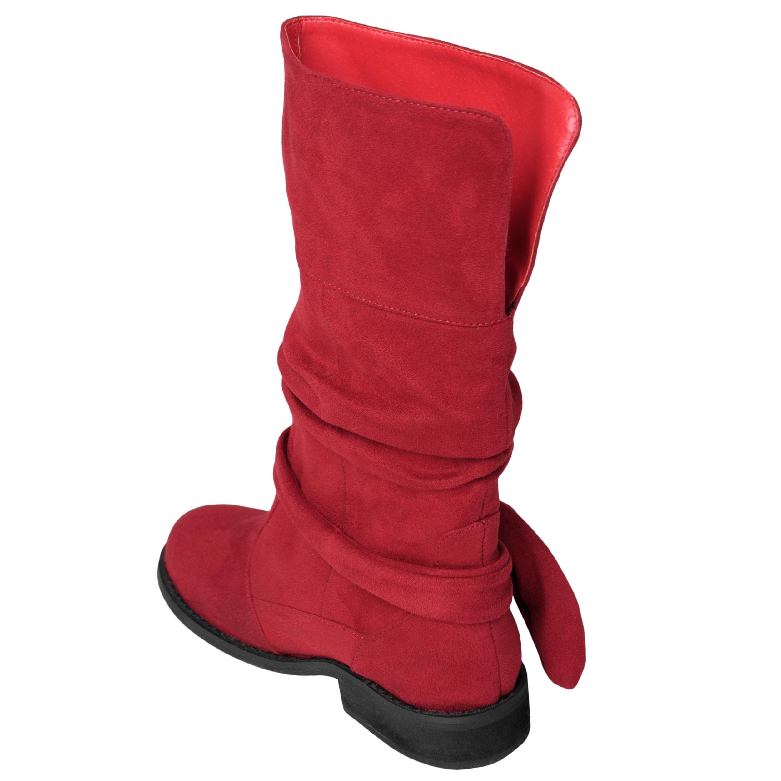 Two Lips Brand Girl's 'TooBootleg' Knot Detail Slouchy Mid-calf Boot
