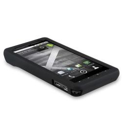 INSTEN Black Soft Silicone Phone Case Cover for Motorola Droid Xtreme/ Droid X