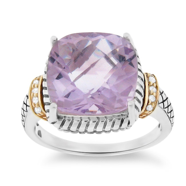 meredith leigh 14k gold and silver pink amethyst and