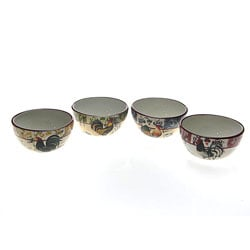 Certified International Lille Rooster 5.5-in Ice Cream Bowls (Set of 4)