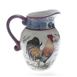 Certified International Lille Rooster 2.25-quart Pitcher