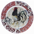 Certified International Lille Rooster 15-inch Round Platter