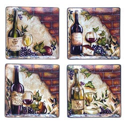 Certified International Wine Cellar 11-in Square Dinner Plates (Set of 4)