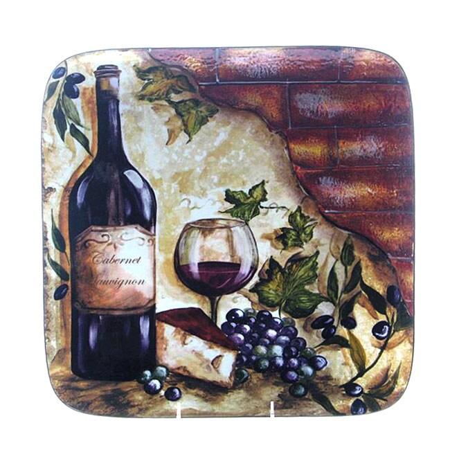 Certified International Wine Cellar 14.5-Inch Square Platter