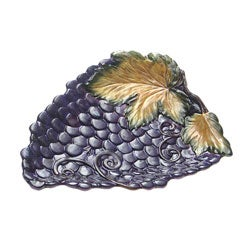 Certified International Wine Cellar 3-D Grape Platter