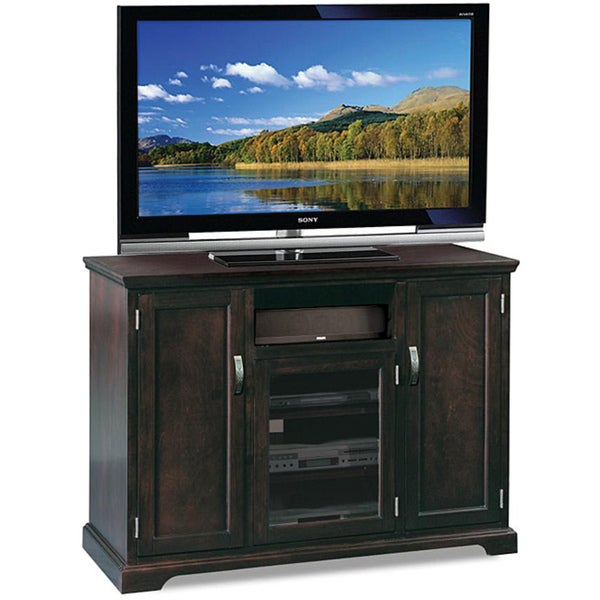 chocolate bronze tinted 50 inch tv stand media console kd furnishings entertainment centers on. Black Bedroom Furniture Sets. Home Design Ideas