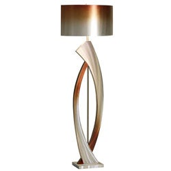 "Nova Lighting ""Swerve"" Aluminum Floor Lamp"