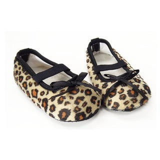 Brown Leopard Infant Girl Crib Shoes