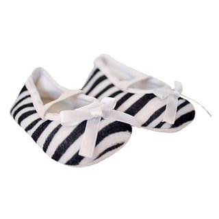Black and White Zebra Infant Girl Shoes
