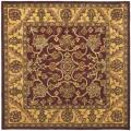 Safavieh Handmade Golden Jaipur Burgundy/ Gold Wool Rug (6' Square)