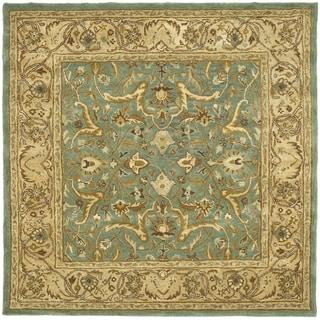 Safavieh Handmade Heritage Kashen Blue/ Beige Wool Rug (6' Square)
