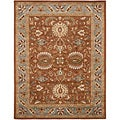 Handmade Heritage Darab Brown/ Blue Wool Rug (4' x 6')