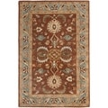Handmade Heritage Darab Brown/ Blue Wool Rug (4&#39; x 6&#39;)
