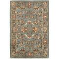Safavieh Handmade Heritage Nir Blue Wool Rug (2' x 3')