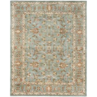 Handmade Heritage Nir Blue Wool Rug (4' x 6')