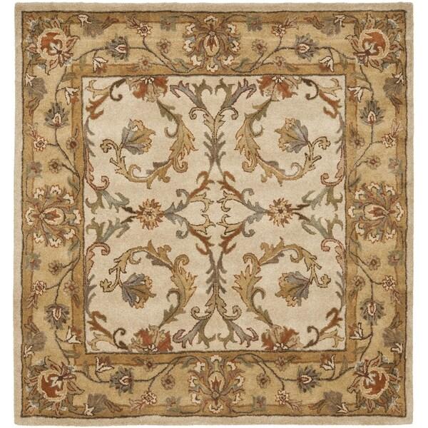 Safavieh Handmade Heritage Zabol Beige/ Gold Wool Rug (6' Square)