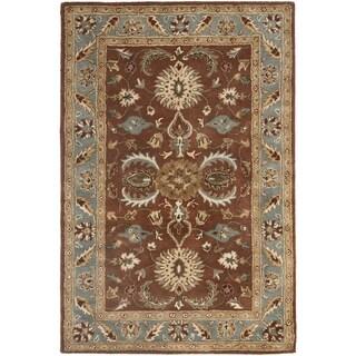 Safavieh Handmade Heritage Darab Brown/ Blue Wool Rug (2' x 3')