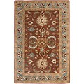 Handmade Heritage Darab Brown/ Blue Wool Rug (2' x 3')