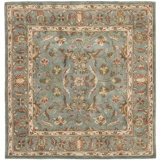 Safavieh Handmade Heritage Nir Blue Wool Rug (6' Square)