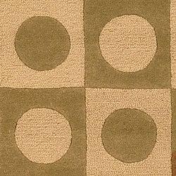 Safavieh Handmade Checker Board Beige Wool Rug (8'3 x 11')