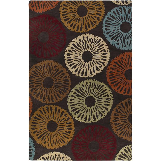 Hand-tufted Contemporary Devon Wool Abstract Rug (8' x 11')
