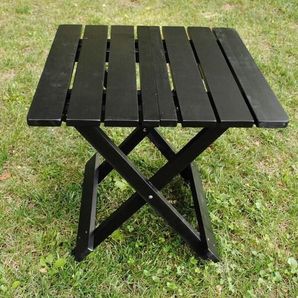 Black Folding Adirondack Side Table